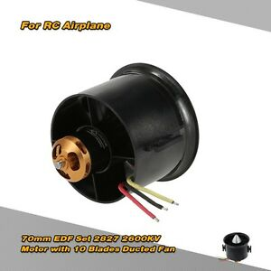 QX Motor 70mm EDF Set 2827 2600KV Motor with 10 Blade Ducted Fan for RC Airplane