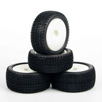 4PCS 1/10 Scale RC Off-Road Buggy Car Front & Rear Wheel Tyre Set 25024+27013