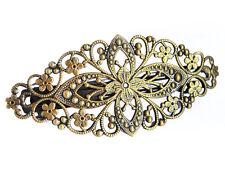 NEU-Vintage  Haarklammer-Haarspangen -Bronzefarben Blume-Headwear