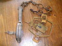 2 vintage animal traps
