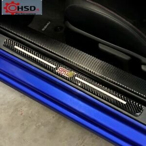 Carbon Fiber Door Sill Scuff Plate Guards For TRD Subaru BRZ Toyota 86 2013-2020