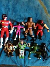 Action Figures Lot. WWE   Power Rangers  TMNT Darth Vader ect.