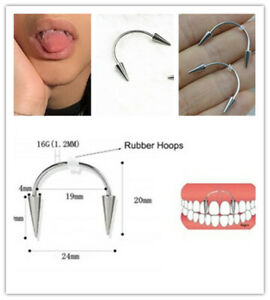 50pcs Surgical Steel Cone Teeth Decoration Jewelry Vampire Tooth Piercing Dental