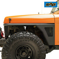 EAG Front Fenders Flare Rocker Guard with LED Light Fit 87-95 Jeep Wrangler YJ