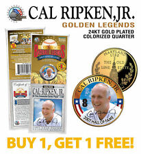 CAL RIPKEN JR Golden Legends 24K Gold Plated MARYLAND State Quarter Coin - BOGO