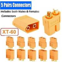 Lots 5Pairs Male & Female XT60 Bullet Connector Plug ESC For RC Lipo Battery