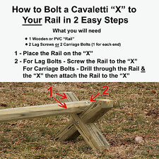 """Wood Cavaletti CUT """"X"""" Only Horse Jumps - A Must Have Horse Training Aid"""