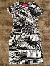 BonPrix BPC Black White Contrast Stretch Fitted Dress Size 14 / 16 NEW