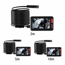 "Car 8mm USB Endoscope Borescope Inspection Tube Camera UK 4.3"" LCD F200 1080P"