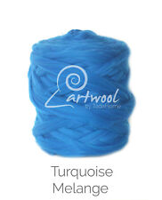 Turquoise Melange -  1 kg 100% Merino Wool Giant Chunky Yarn Arm Knitting