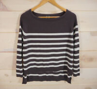 Urban Outfitters Sparkle & Fade Women's Sz M Striped Sweater Batwing Hi-Low CL
