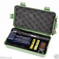 Super Bright X800 Shadowhawk CREE XM-L2 LED 18650 Zoom Tactical Flashlight Set