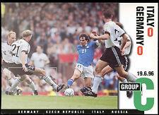 Football Maxicard 1996 Italy V Germany Unused #C26353
