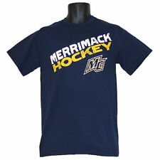Merrimack Warriors Hockey Step Ahead Angle Blue T-Shirt - XLarge