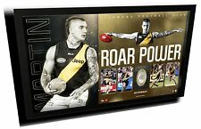 DUSTIN MARTIN ROAR POWER AFL RICHMOND FC LIMITED EDITION PRINT FRAMED MEMORABILI