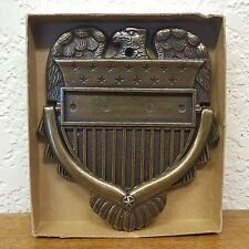 Vintage 1967 Personally Yours Bronze Stars Stripes Eagle Door Knocker