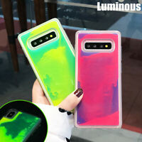 Luminous Quicksand Hybrid Case Cover For Samsung Galaxy S10 Plus S9 Note 10 9 8