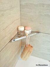Eckablage Eckregal zum Einsetzen für Dusche und Bad Edelstahl chrom 200x200mm