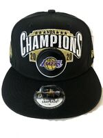 Los Angeles Lakers New Era 2020 NBA Champions Locker Room 9fifty Hat SnapBack