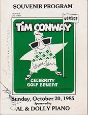 Tim Conway Promi Golf Benefit Signiert Programm 1985