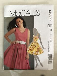 New McCall's  Pattern  #M5800  Size EE (14,16,18,20)