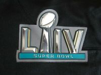 OFFICIAL PLASTIC Chiefs vs 49ers Super Bowl LIV 54 Flex Chrome Patch Iron On