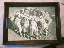 Vintage Football Scene Food Tray