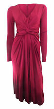 Viscose V-Neck Women's Special Occasion Midi