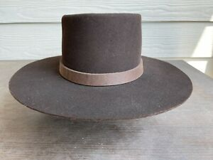 Custom Rugged Antique Vintage Old West Cowboy Hat 6 7/8 Clint Eastwood Western