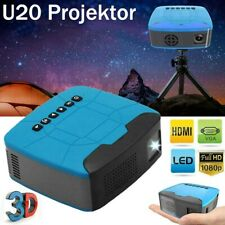 7000LM LED Pocket 3D Projektor Mini Beamer Heimkino Voll HD 1080P USB TF HDMI AV