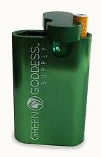 "3"" Anodized Aluminum Tobacco Case - Green - Green Goddess Supply"
