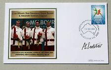COMMONWEALTH GAMES MELBOURNE 2006 BENHAM COVER SWIMMING SIGNED ALEX SCOTCHER