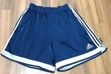 Adidas CLIMALITE XL X-LARGE Shiny Shorts Blue Satin Soccer Athletic Drawstring