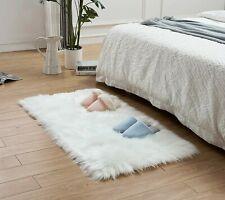 White Shaggy Faux Fur Polar BearSkin Area Rug