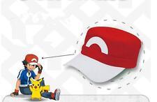 Pokemon XY XYZ Go Satoshi Ash Ketchum Cosplay Prop S5 Red&White Baseball Cap Hat
