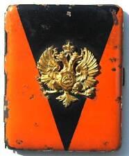 Original RUSSIAN IMPERIAL CIGARETTE Case - ST. VLADIMIR w. badge emblem order