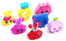 New Lot of 7 Shopkins McDonalds Toy Figures - Rhonda, Judy Jumper, Bella, Wendy