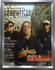 SIGNED IGGY POP & THE STOOGES AUTOGRAPHED MAGAZINE FRAMED ALL THREE