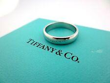Tiffany & Co. Lucida Platinum 4.5mm Wedding Engagement Eternity Band Ring Size 8