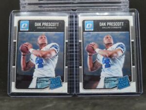 (2) 2016 Donruss Optic Dak Prescott Rated Rookie Card Lot RC #162 Cowboys O15