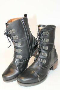 Pikolinos Womens Size 9 40 Leather Mid Zip Laced Heeled Boots 75 80