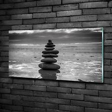 Glas-Bild Wandbilder Druck auf Glas 100x50 Deko Kunst Steine