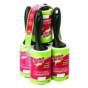 Scotch-Brite Lint Roller for Laundry Clothes Fuzz Pet Hair 1 2 3 4 5 6 12 Rolls