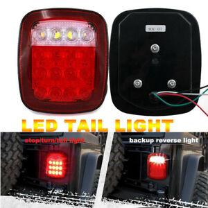 Fits Jeep Wrangler TJ CJ YJ LED Tail Light Rear Light Brake Reverse Turn Signal