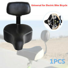 1X Wide Comfortable Tricycle Mountain E-Bike Bicycle Saddle Seat Pad w/Back Rest
