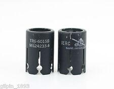Two (2) Used IERC TR6-6015B Tube Shields 9 Pin Miniature 6688 5670 6386