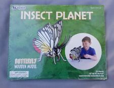 Insect Planet Wooden Model Craft Kit Set Build A 3D Model Butterfly 5 Years +