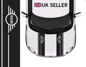 MINI COOPER LOGO BONNET STRIPES CAR VINYL GRAPHICS/ DECALS STICKERS