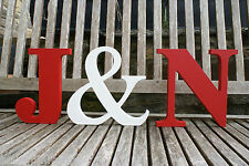 Freestanding wooden Initials Wedding Gift/top table/venue decor