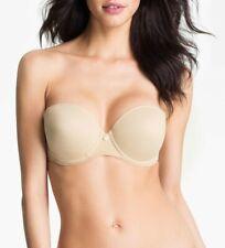 CHANTELLE INTIMATES Women's Nude Sensua Convertible Strapless Bra Sz 38D 142145